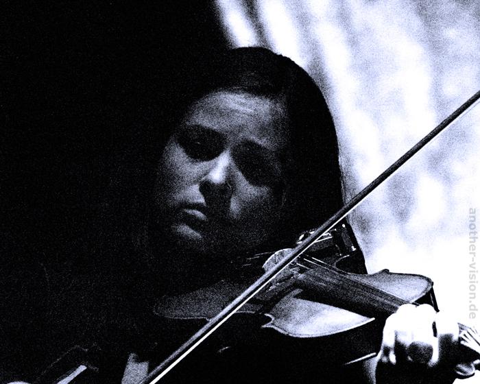 Birgit Pelz - Violine - Charlotte Seitz und Band - 15.Seelower Stadtfest - 03.09.2010