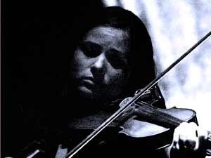 Birgit an der Violine